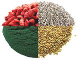Ягоды годжи, семена чиа, асаи, горькая гречиха, спирулина, хлорелла